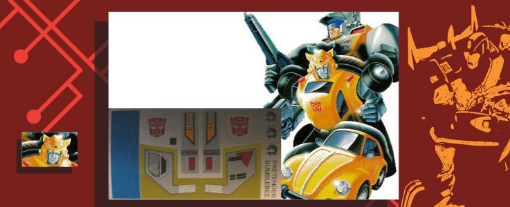 Labels for Bumblebee (Pretender)
