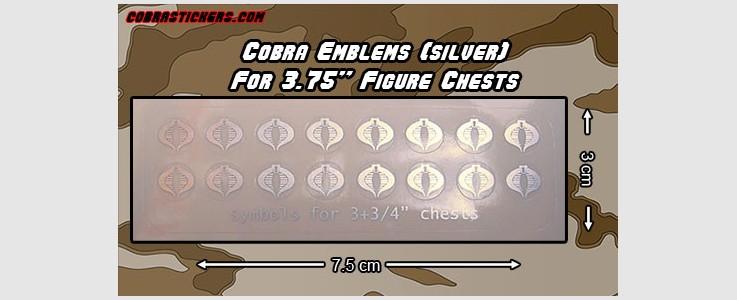 "Cobra Command chest emblem for 3+3/4"" figures (silver)"
