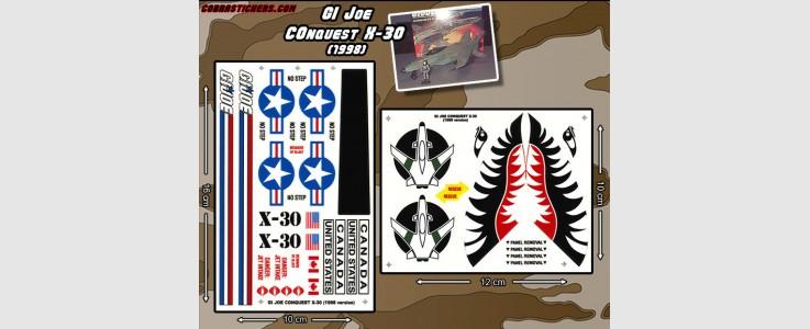 Conquest X-30 (1998 - GI Joe) 2 Sheet