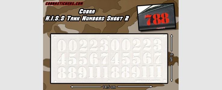 HISS Number Sheet 2 - White