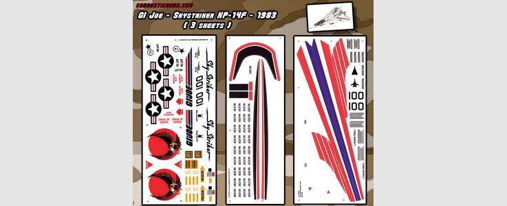 Skystriker XP-14F Combat Jet 1983 (3 Sheet)