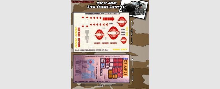 Steel Crusher (Rise of Cobra) Custom Set (2 sheet)