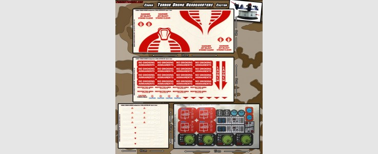 Cobra Terror Drome Headquarters (4 sheet)