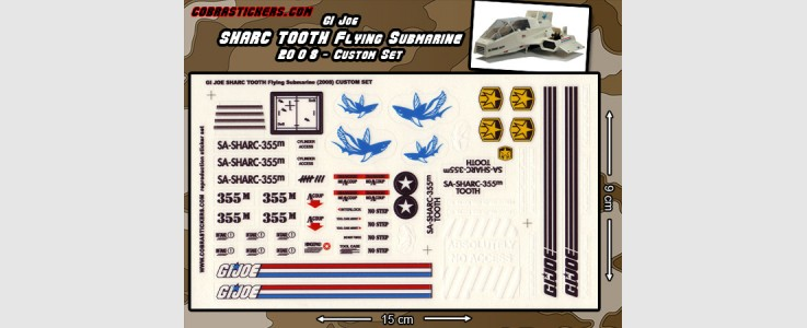 SHARC Tooth Flying Submarine (2008  Custom Set)