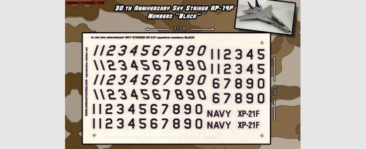 Skystriker XP-21F 30th Anniversary Number Sheet (Black)