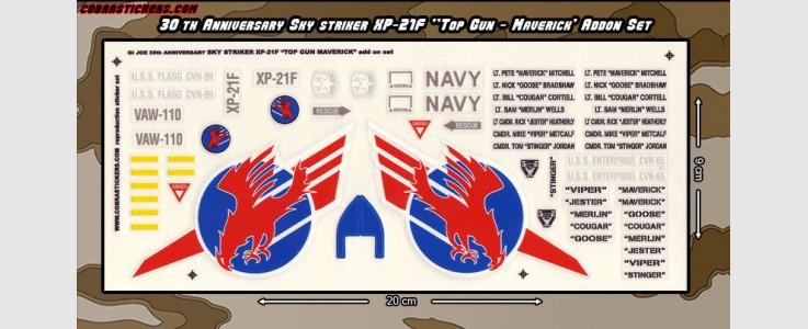 Skystriker XP-21F Top Gun 'Maverick' add on set