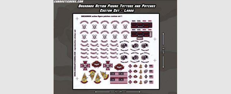 Dreadnok Acton Figure Tattoos & Patches - Large set 1