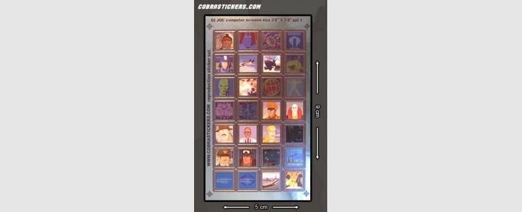 "Generic Computer Screens (Small - 3/8"" x 3/8"") Set 1"