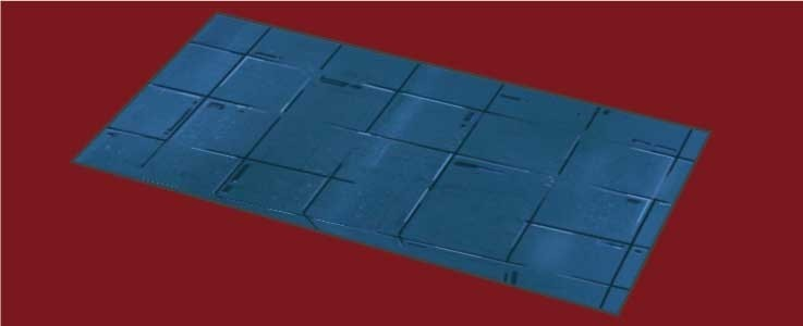 Blue Metal Floor Tile