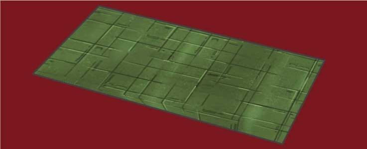 Green Metal Floor Tile