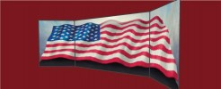 American Flag Large Trimmed