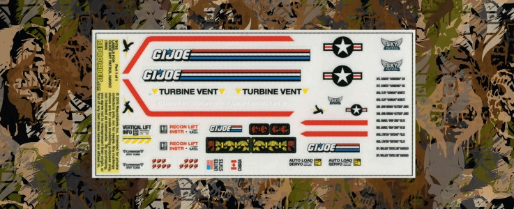 Labels for GI JOE Sky Patrol HAVOC (1990)