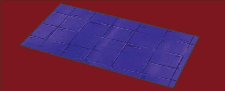 Purple Metal Floor Tile