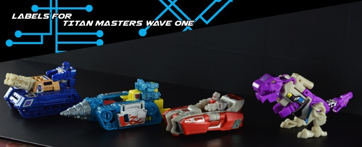 Labels for TR Titan Masters wave 1