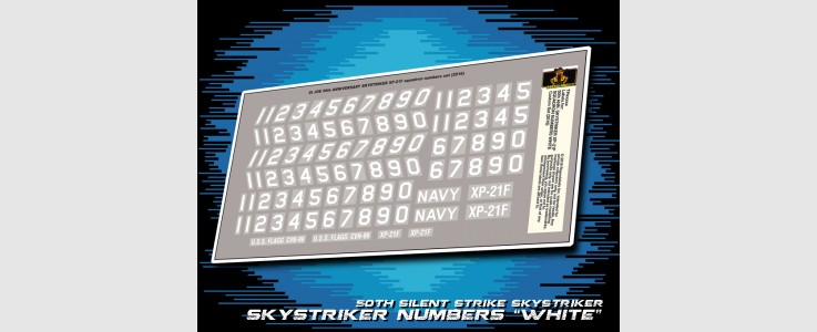 for JOE 50th Skystriker XP-21F Squadron Numbers White (2016)
