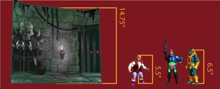 Castle Dungeon Cube Shelf (B)
