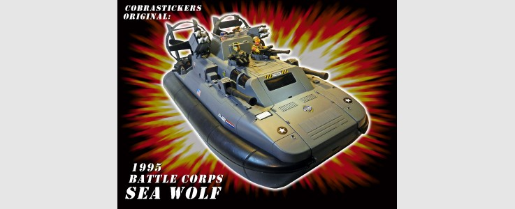 for GI JOE Sea Wolf hovercraft (1995)