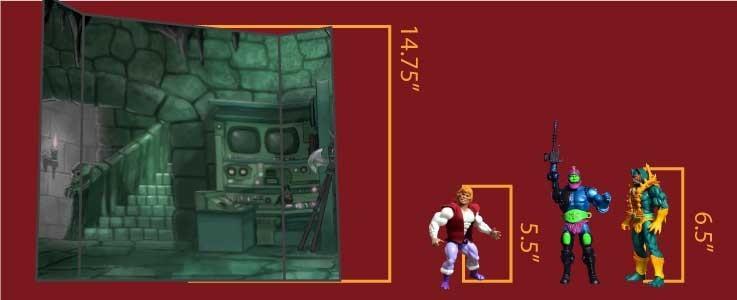 Castle Dungeon Cube Shelf (A)