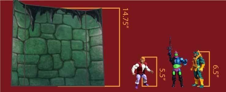 Castle Wall Cube Shelf (A)