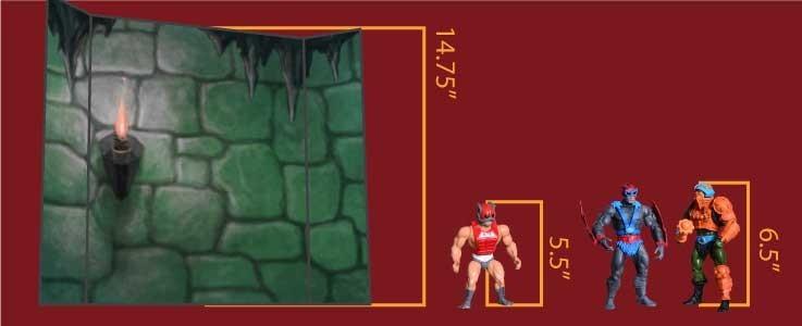 Castle Wall Cube Shelf (B)