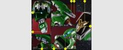 Labels for Voltron Legendary Green Lion