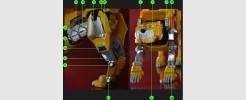 Labels for Voltron Legendary Yellow Lion