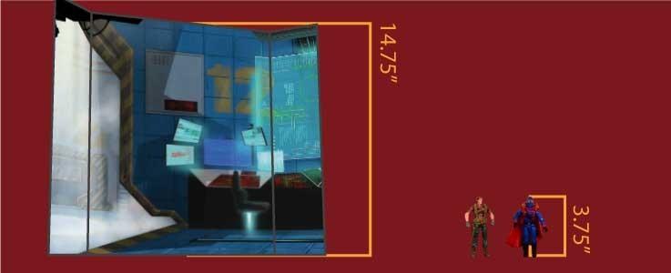 Terrorist Command Cube Shelf (A)