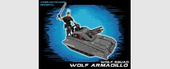 for GI JOE Wolf Squad Wolf Armadillo tank (2017)