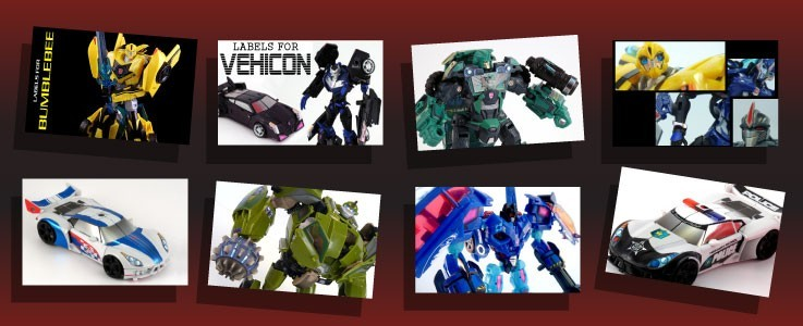 Labels for Robots in Disguise and Transformers:Prime figures